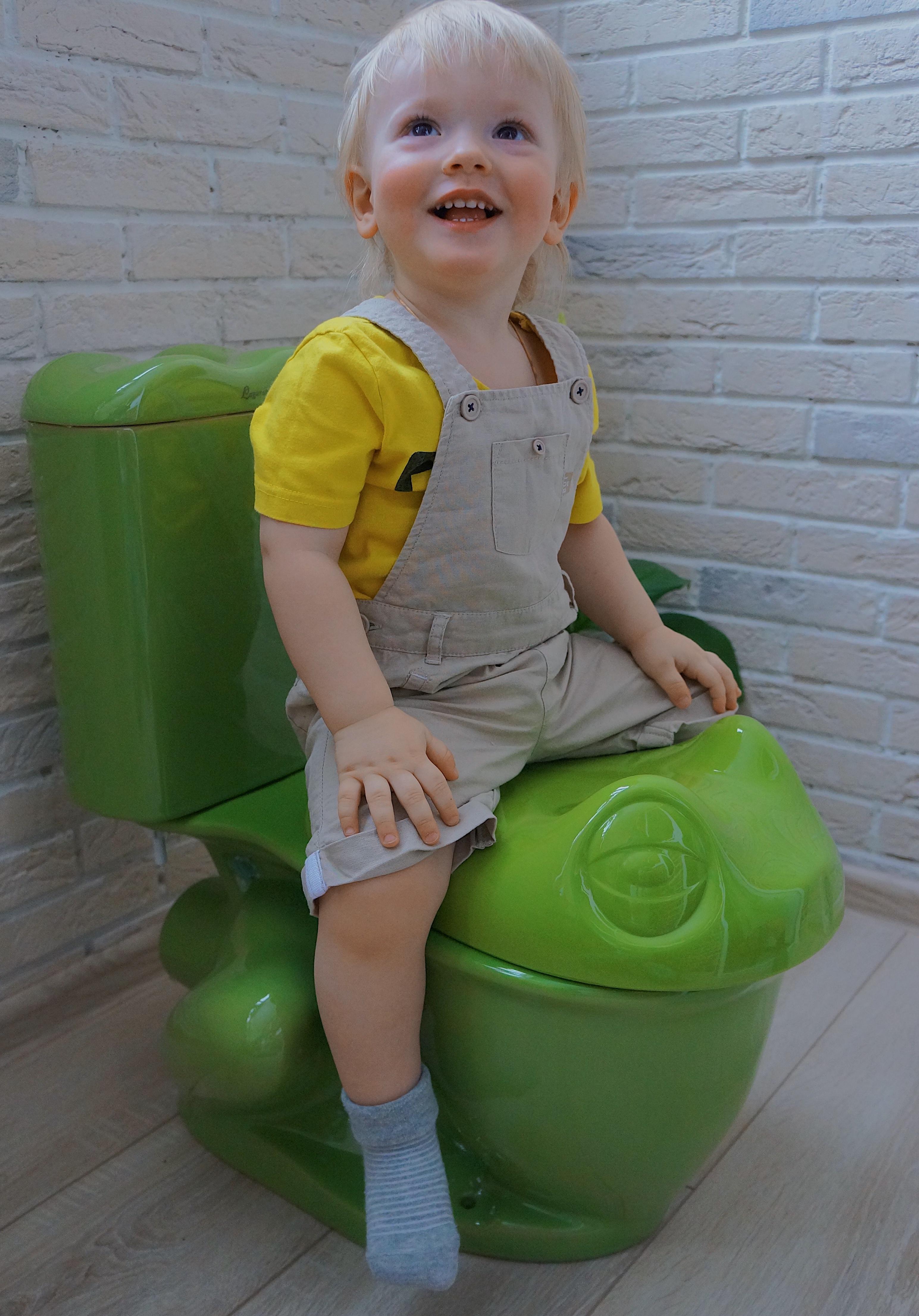 Фото 6527: Детский Унитаз Агуша Laguraty (лягушка)