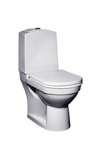Фото 3542: Унитаз Gustavsberg Logic 5695 95 56959501 со встроенным горизонтальным выпуском без сидения с крышкой