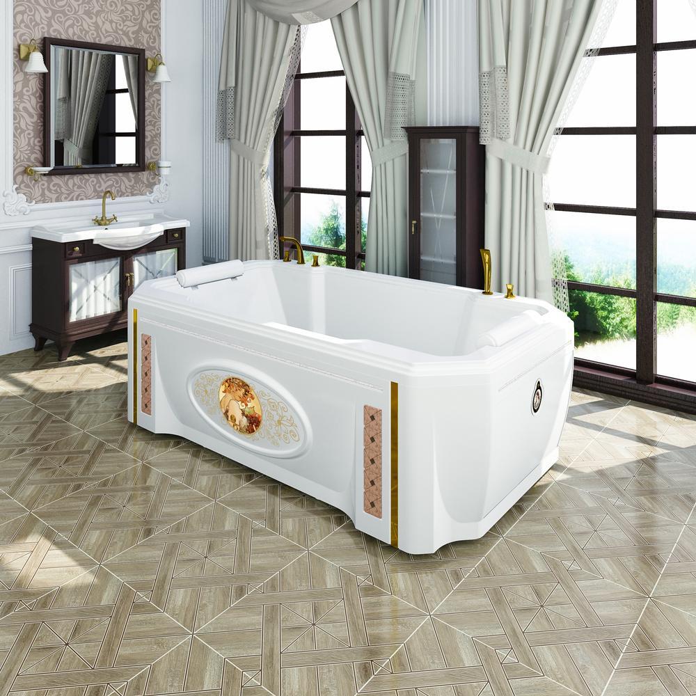 Фото 6111: Акриловая ванна Радомир (FRA GRANDE) Фонтенбло с панелью