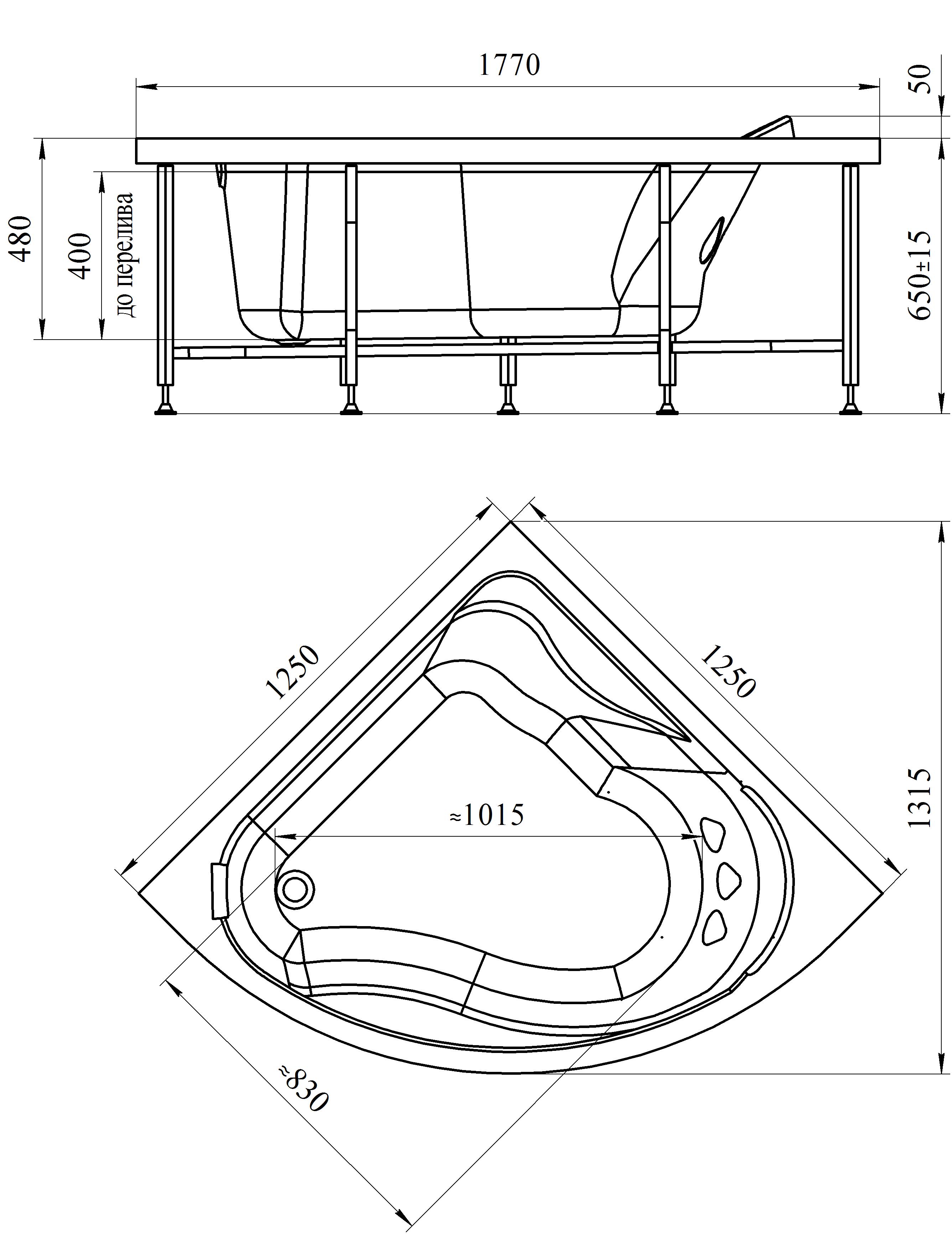 Фото 2942: Акриловая ванна Радомир (Vannesa) Альтея 125 х 125