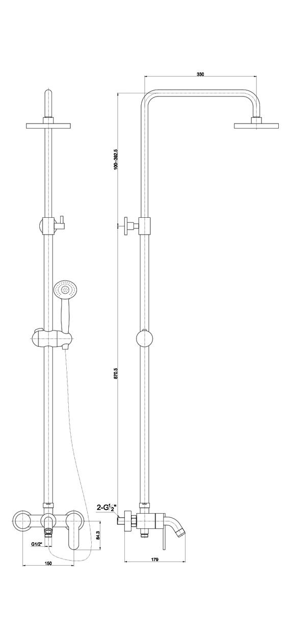 Фото 3495: Душевая система TIMO Polo SX-1100 White