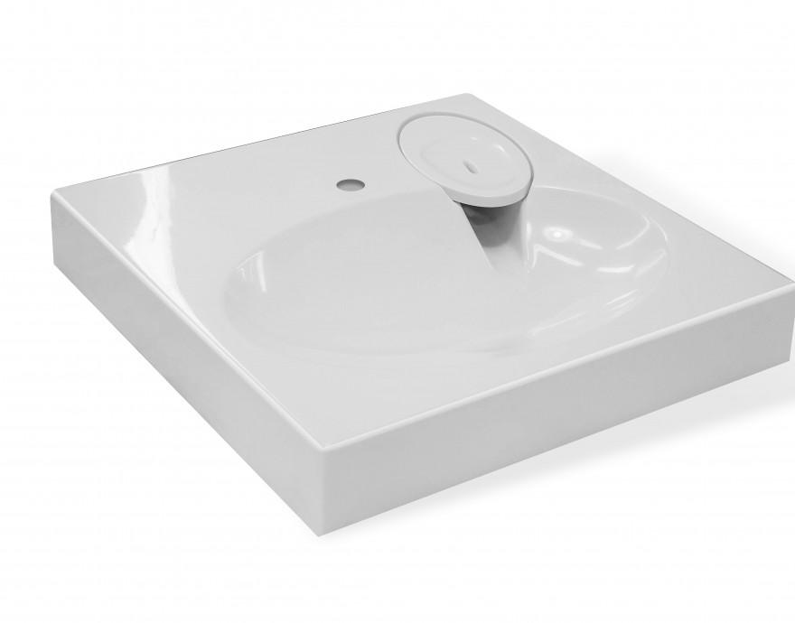 Фото 3360: Комплект: мини стиральная машина под раковину Candy Aqua 104D2-07 с раковиной LEA 60 (Луна) литьевой мрамор