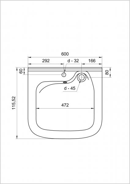 Фото 6068: Комплект: мини стиральная машина под раковину Candy Aqua 104D2-07 с раковиной Юни 60 (Кувшинка)