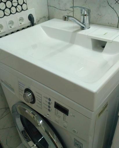 Фото 7090: Раковина над стиральной машиной Aqua Symphony Solo Jazz 55 (сифон в комплекте)