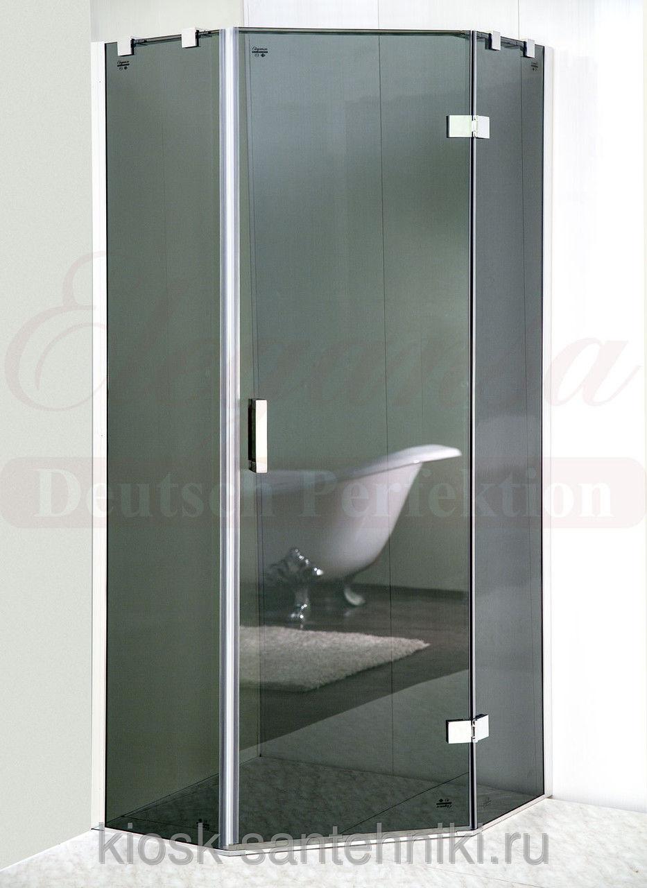 Фото 1236: Душевая шторка Elegansa TRAPEZ Grey (331) 90 см (без поддона)