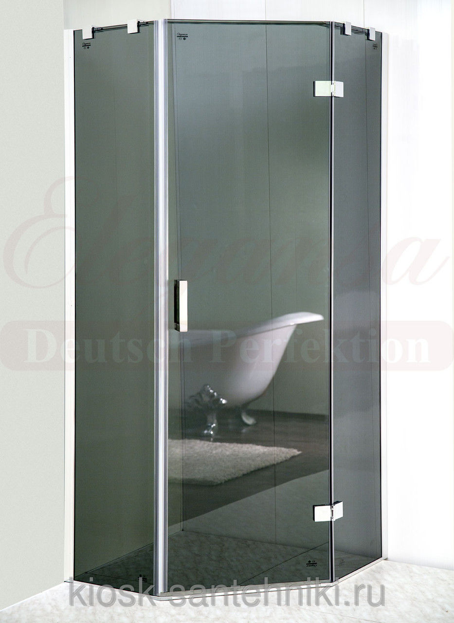 Фото 9720: Душевая шторка Elegansa TRAPEZ Grey (331) 80 см (без поддона)