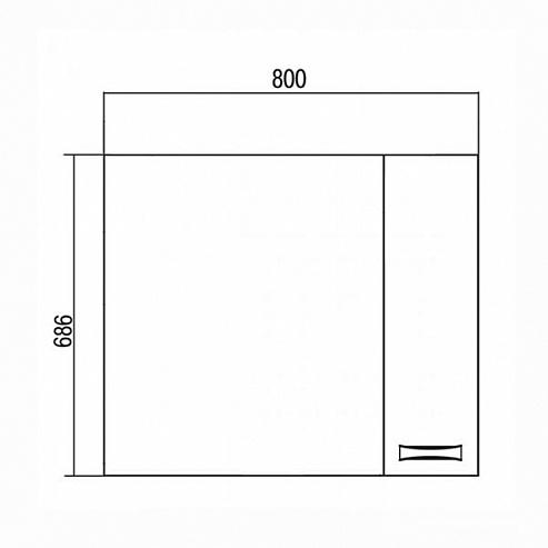 Фото 4760: Зеркало шкаф Акватон ДИОР 80 белый 1A168002DR01R
