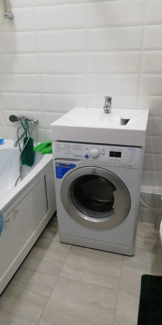 Фото 40: Раковина над стиральной машиной Эстет Lea 60 (с сифоном)