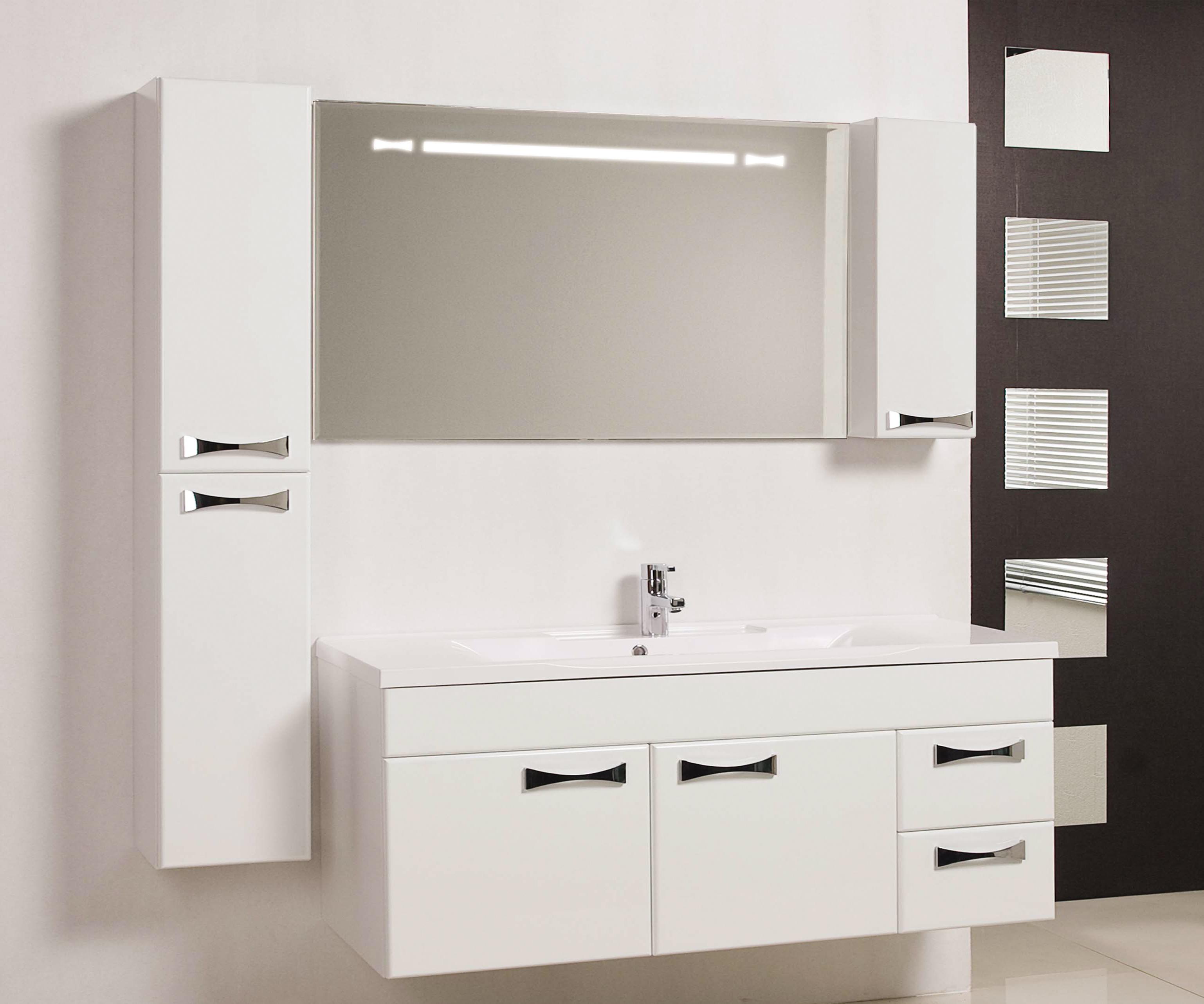 Фото 499: Зеркало шкаф Акватон ДИОР 120 белый 1A110702DR01R