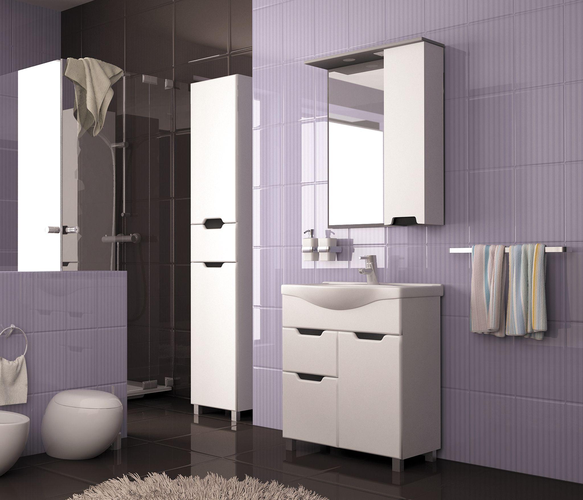Фото 9596: Зеркало-шкаф навесной с подсветкой MIXLINE Прометей левый