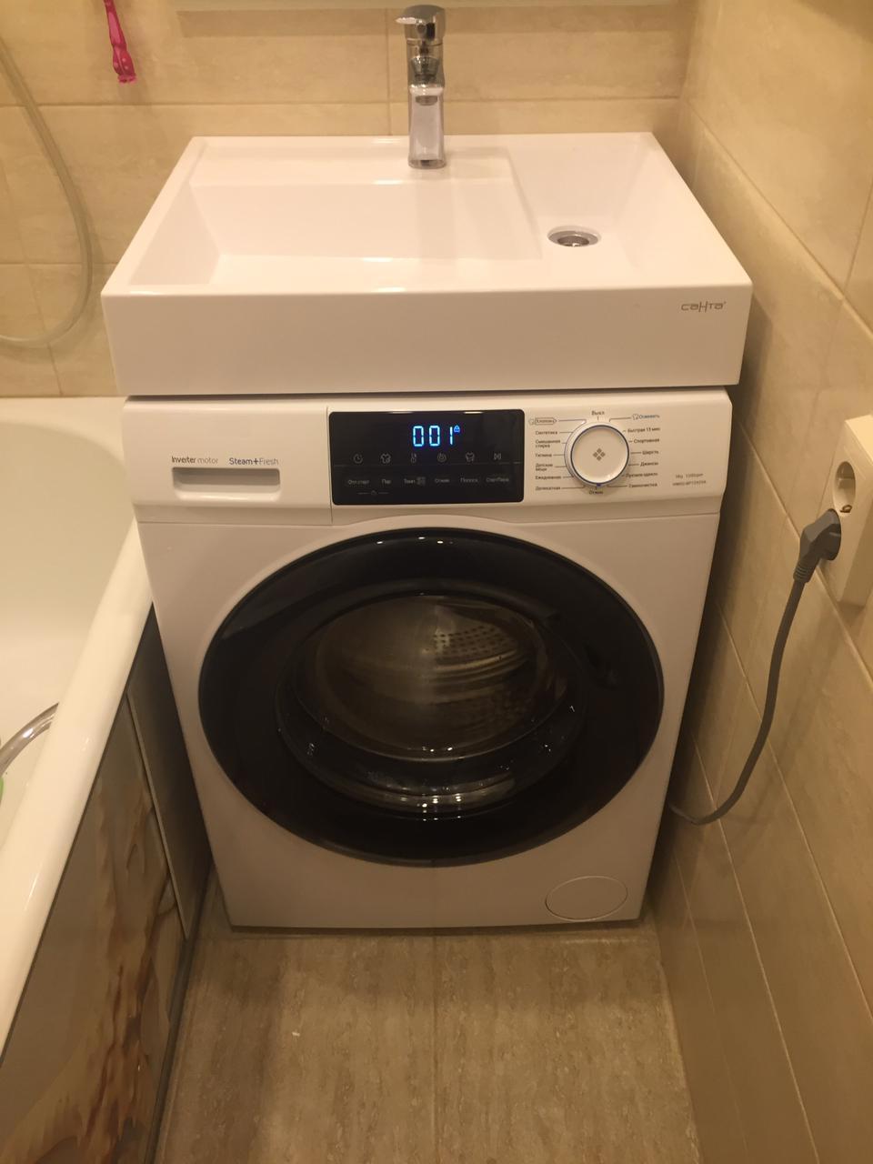 Фото 6351: Раковина над стиральной машиной Санта Юпитер 50