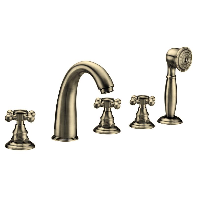 Фото 4045: Смеситель Радомир из пяти элементов Лонг (bronze)