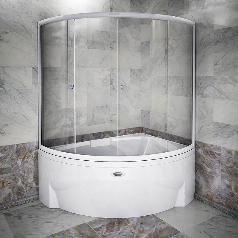 Фото 771: Стеклянная шторка для ванн Радомир Астория с хромированным профилем