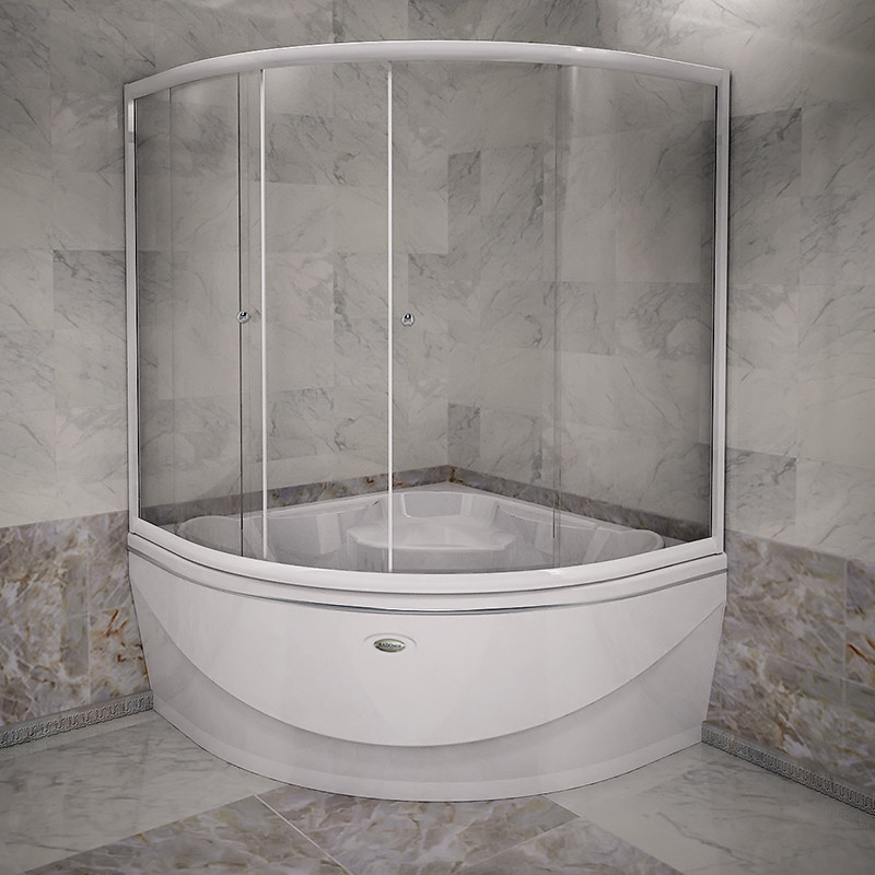 Фото 1271: Стеклянная шторка для ванн Радомир Верона