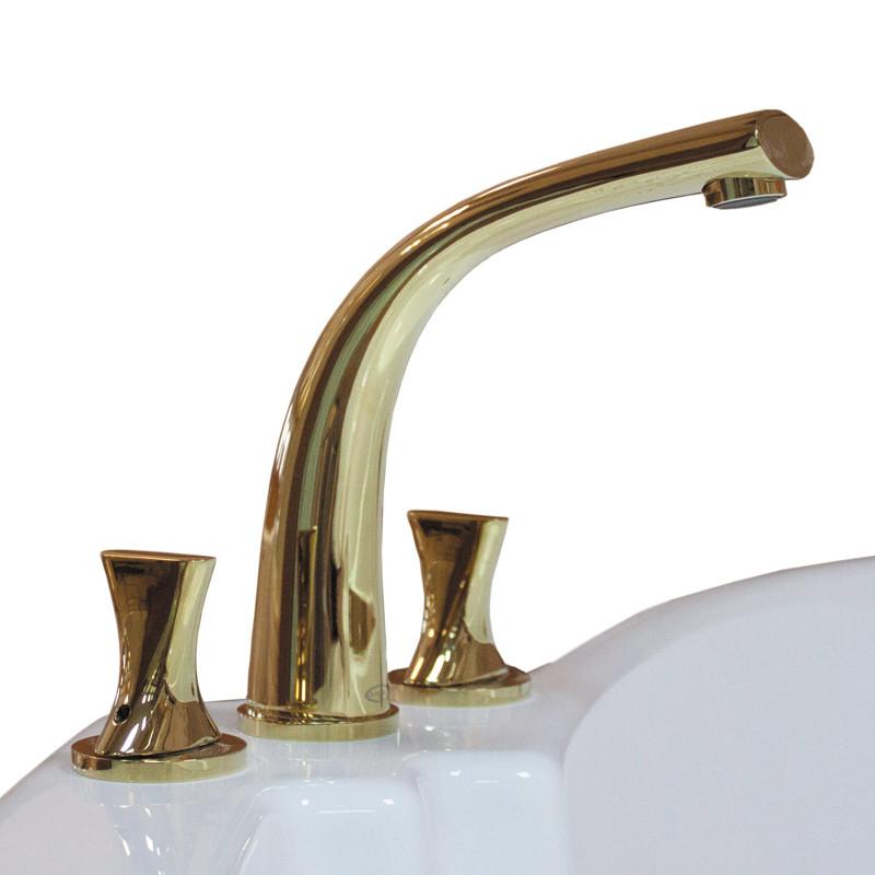 Фото 164: Смеситель Радомир для ванны из пяти элементов Фламинго Gold