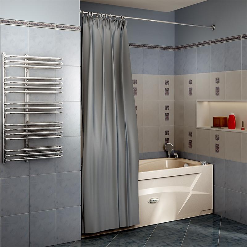 Фото 3301: Сантехника///Аксессуары для ванных///Карниз для ванн RADOMIR Карниз Chrome прямой (2000 мм) для шторки на прямоугольную ванну