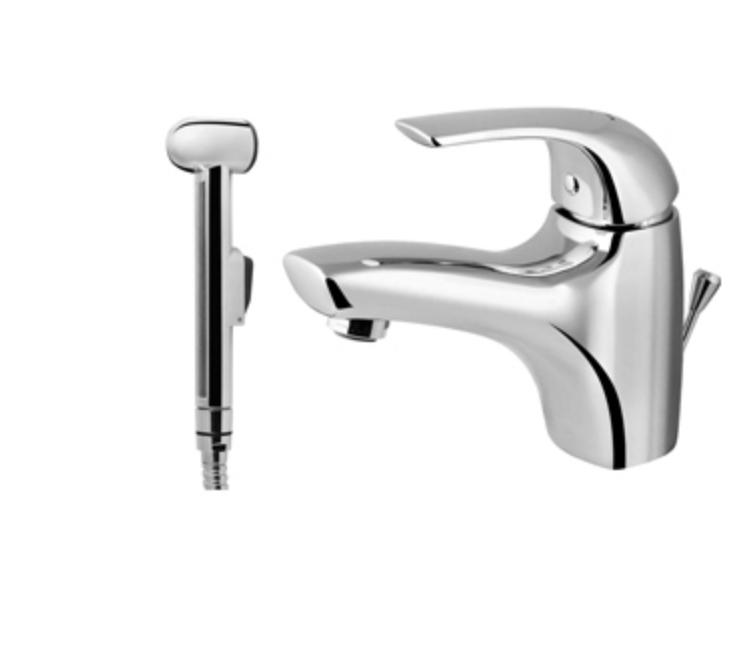 Фото 372: Смеситель для умывальника с ручным душем AM.PM Sense (F7503032)