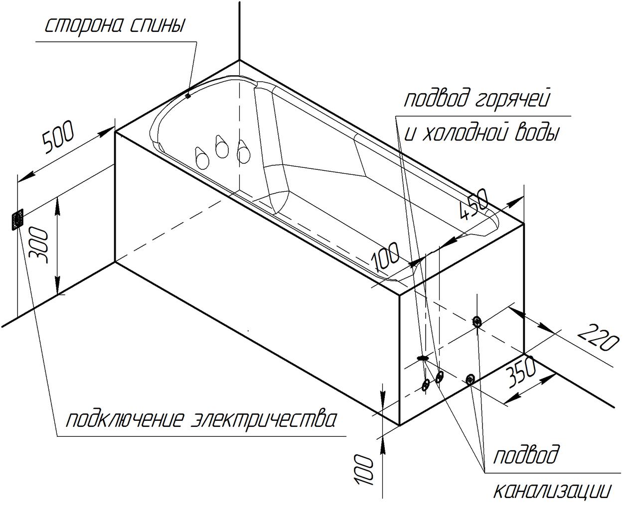 Фото 1753: Гидромассажная ванна Радомир ЛАРЕДО 2 CHROME серия Standard