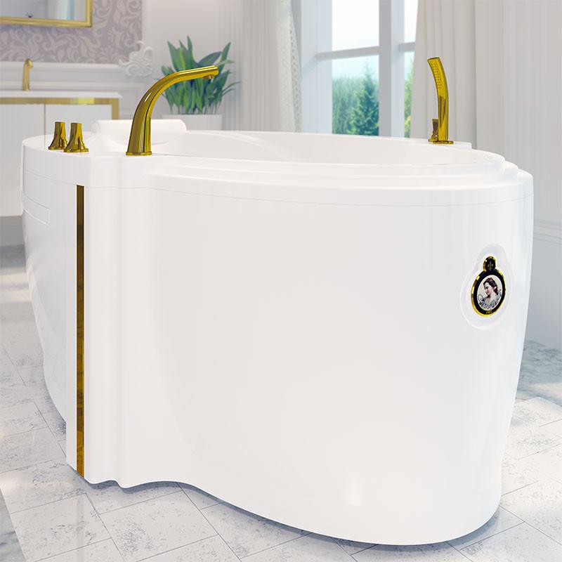 Фото 1377: Акриловая ванна без системы гидромассажа Радомир (Fra Grande) Ницца с панелью