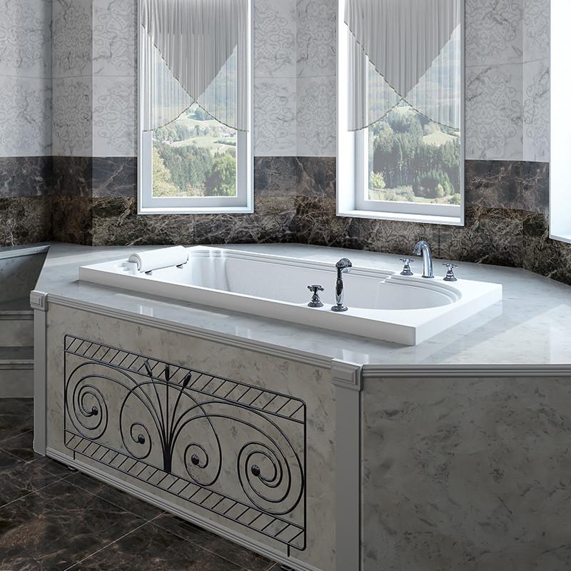 Фото 3194: Акриловая ванна без системы гидромассажа Радомир (Fra Grande) Анабель встраиваемая