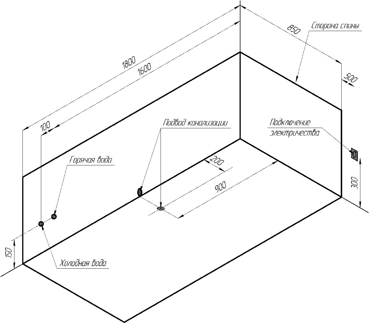 Фото 1678: Акриловая ванна без системы гидромассажа Радомир Палермо