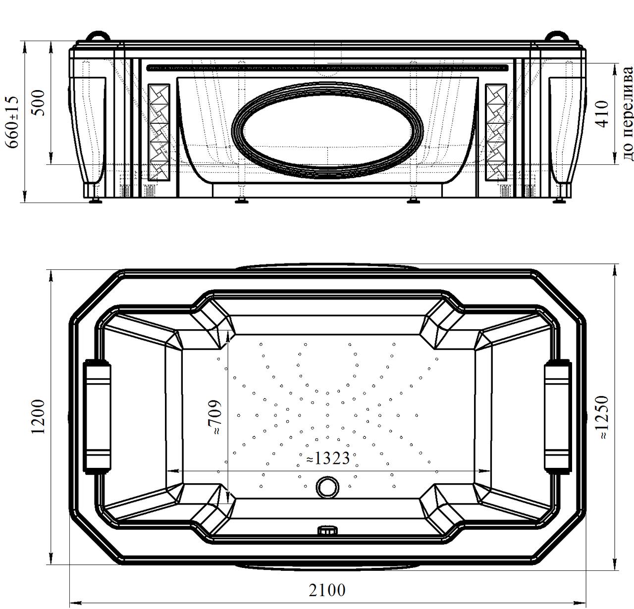 Фото 71: Акриловая ванна без системы гидромассажа Радомир (Fra Grande) Фонтенбло встраиваемая