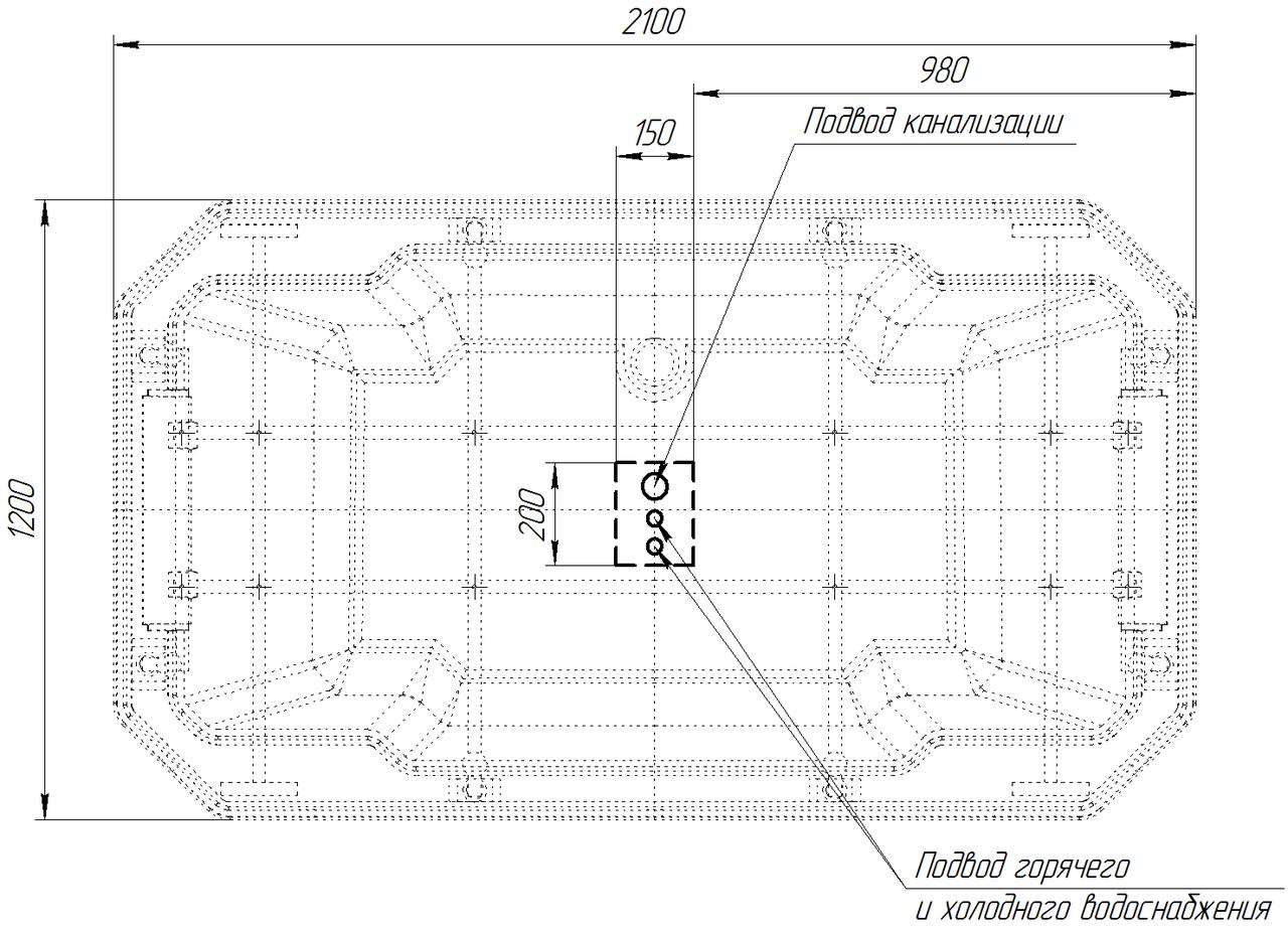 Фото 6636: Акриловая ванна Радомир (FRA GRANDE) Фонтенбло с панелью