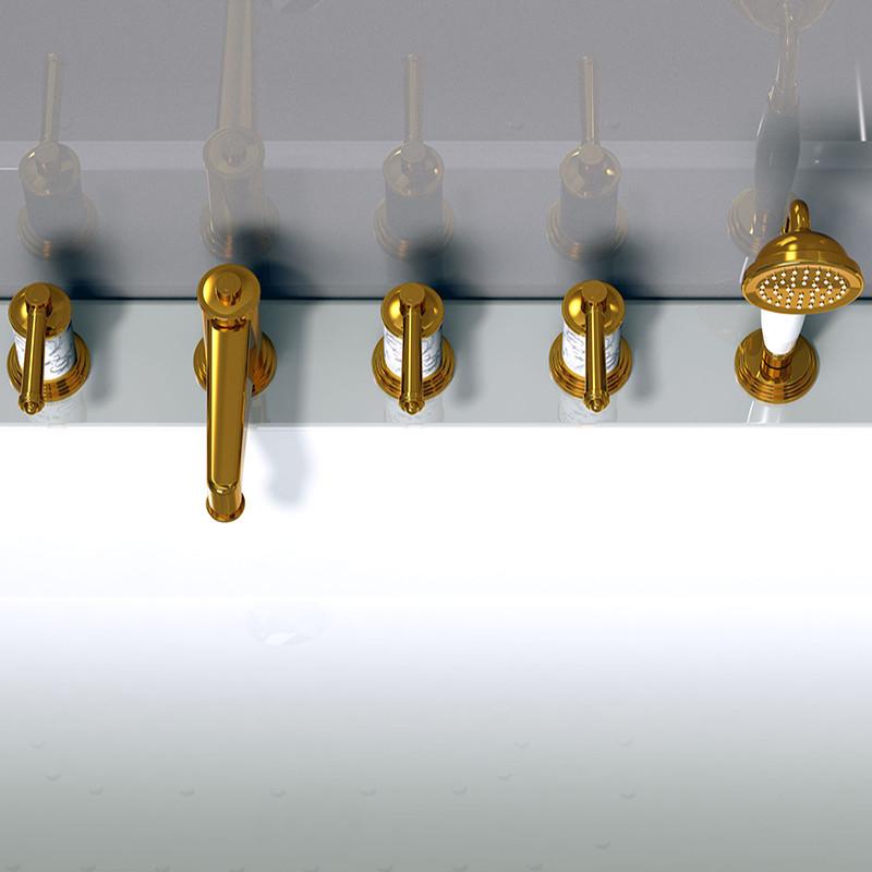 Фото 8815: Смеситель Радомир для ванной Империал Gold