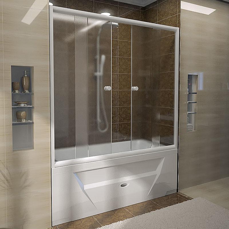 Фото 8819: Стеклянная шторка для ванн Радомир Ларедо