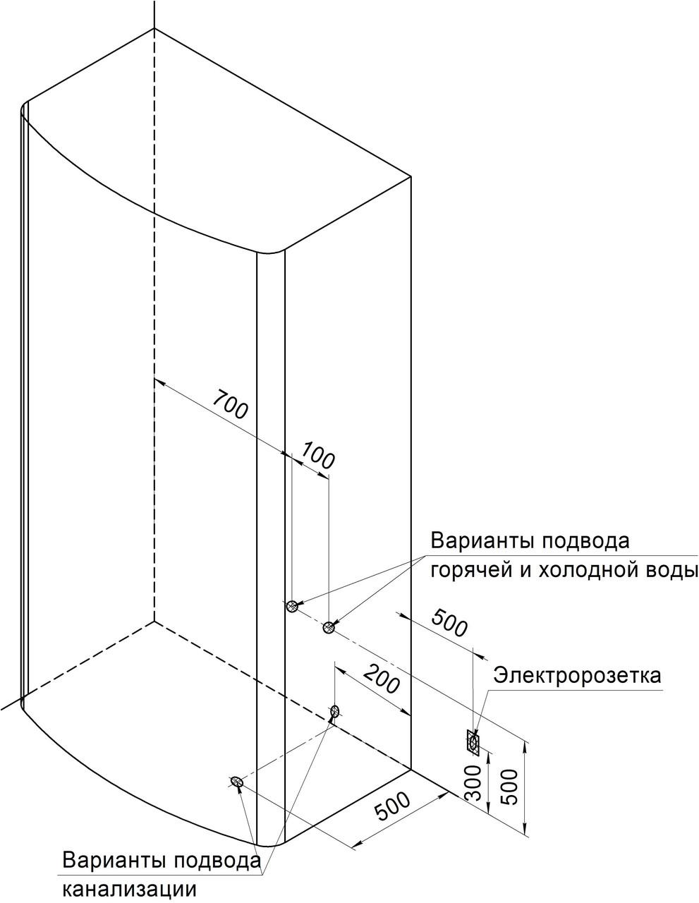 Фото 3845: Душевая кабина Радомир Диана-1 с гидромассажем (118х108)
