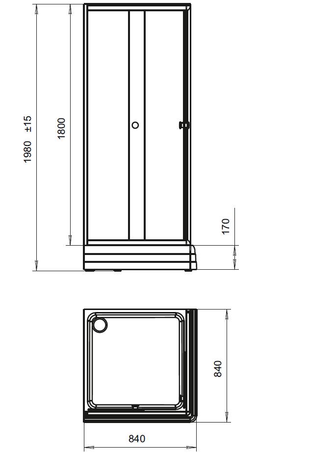 Фото 5185: Душевое ограждение Радомир 80 Люкс со складной дверью