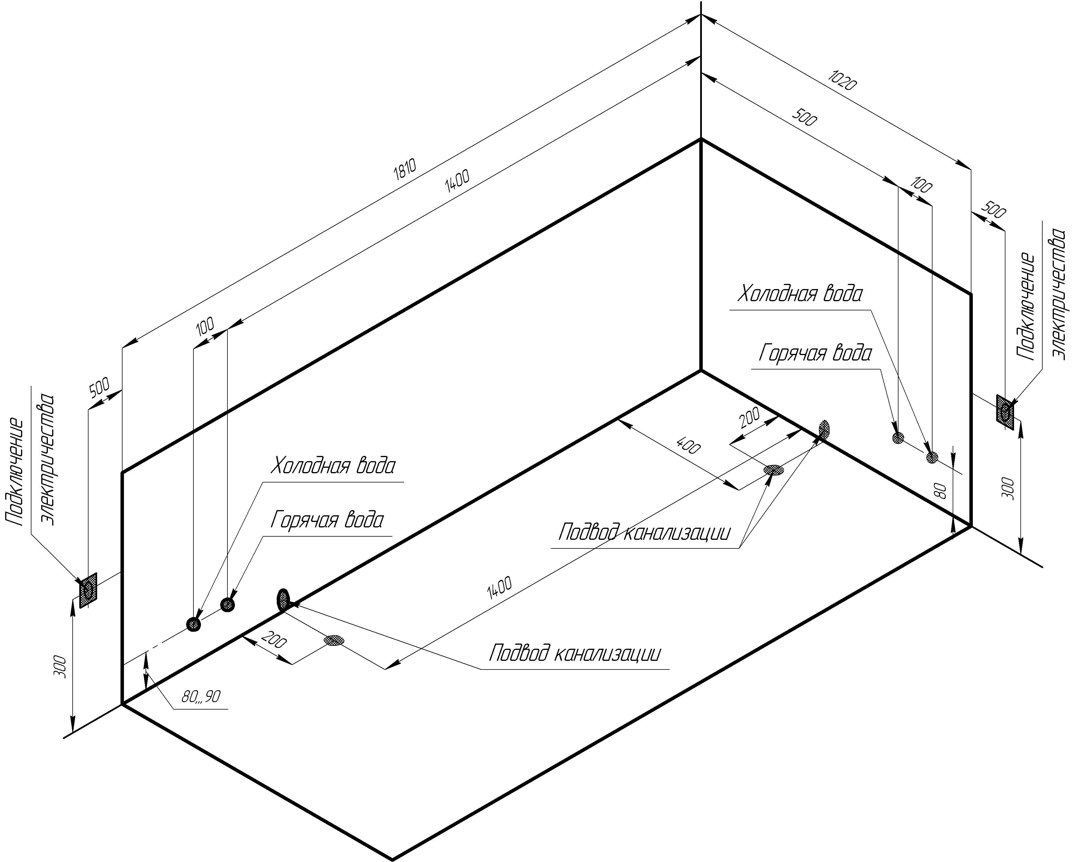 Фото 1709: Акриловая ванна без системы гидромассажа Радомир (Radomir) Конкорд