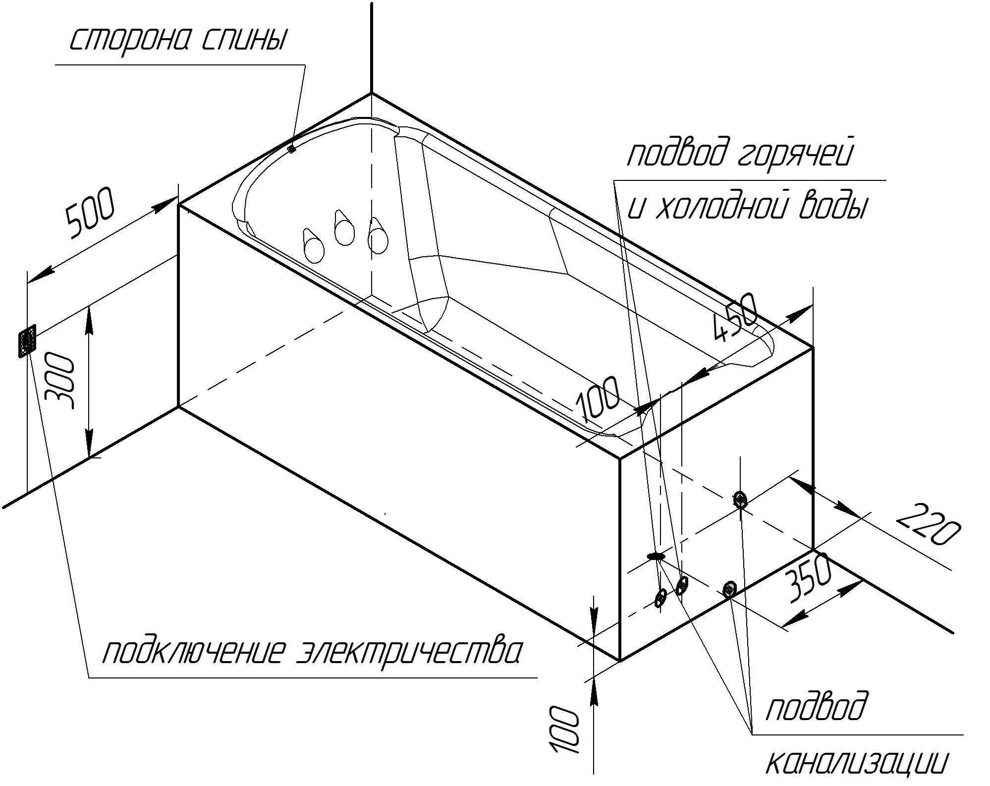 Фото 8295: Акриловая ванна Радомир (Radomir) Ларедо 170 х 78
