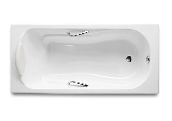 Фото 1656: Ванна чугунная Roca Haiti 160*80 п/ск.покр. с ручками