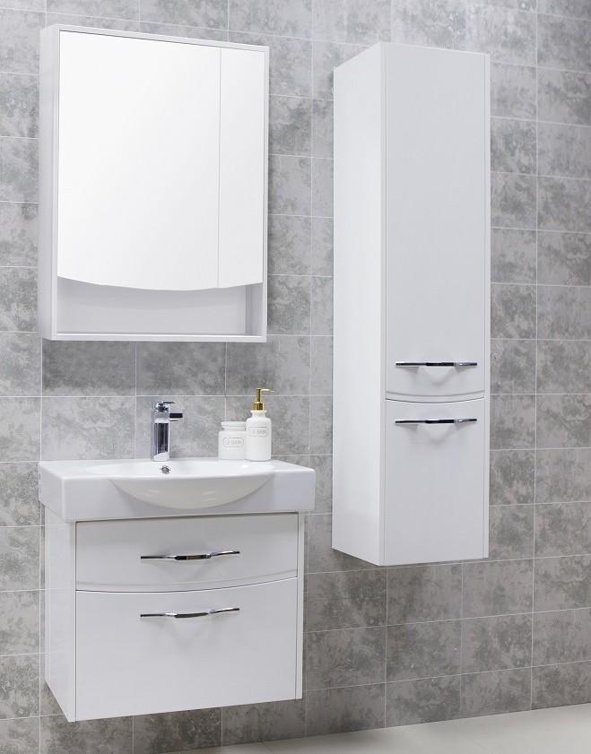 Фото 7239: Зеркальный шкаф Акватон ИНФИНИТИ 65 белый глянец 1A197002IF010