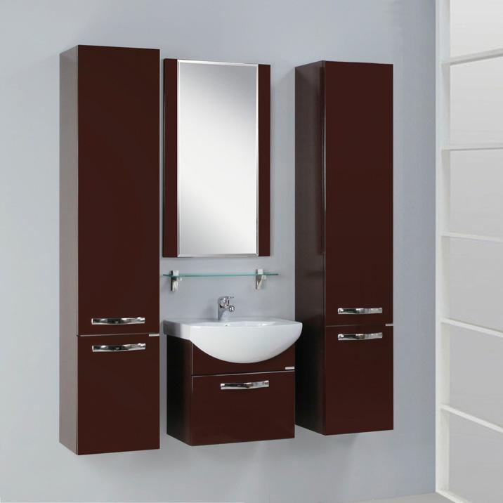 Фото 3631: Зеркало Акватон АРИЯ 50 тёмно-коричневое 1A140102AA430