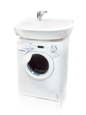 Фото 8469: Комплект: мини стиральная машина под раковину Candy 1d1035 с раковиной Болеро (Кувшинка)