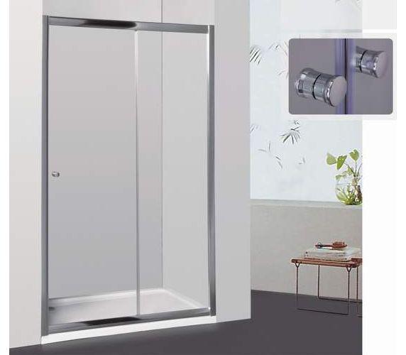 Фото 1543: Душевая дверь раздвижная RGW CL-12 145х185 шиншилла 040912145-51