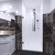 Фото 8453: Душевая дверь маятниковая Титан Муреа М МТ-6000.15.0М  60X200 прозрачное
