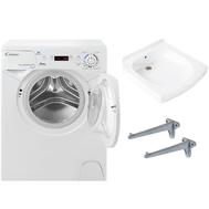 Фото 606: Комплект: мини стиральная машина под раковину Candy Aqua 104D2-07 с раковиной Элегантс (Кувшинка)