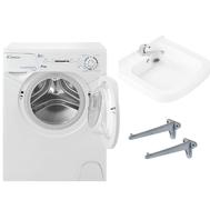 Фото 679: Комплект: мини стиральная машина под раковину Candy Aqua 104D2-07 с раковиной Юни 60 (Кувшинка)