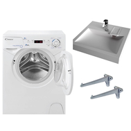 Комплект: стиральная машина Candy Aqua 2D 114 + раковина Solo Jazz