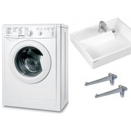 Фото 515: Комплект: стиральная машина под раковину Indesit IWUB 4085 с раковиной Юпитер 50