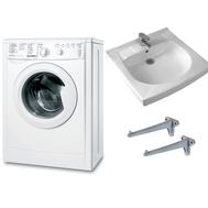 Фото 8952: Комплект: стиральная машина под раковину Indesit  IWUB 4105 с раковиной Пилот 50