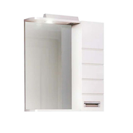 Фото 3871: Зеркало-шкаф RAVAL Kub 60 белый с подсветкой (Kub.03.60/W)