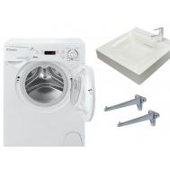 Фото 4285: Комплект: мини стиральная машина под раковину Candy 104D2-07 с раковиной Buta (литьевой мрамор)