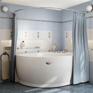 Фото 4367: Сантехника///Аксессуары для ванных///Карниз для ванн RADOMIR Карниз Chrome для шторки на ванну Бергамо