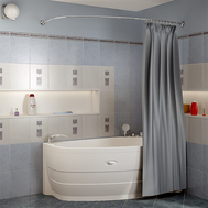 Фото 7324: Сантехника///Аксессуары для ванных///Карниз для ванн RADOMIR Карниз Chrome для шторки на ванну Орсини