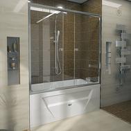 Фото 6365: Стеклянная шторка для ванн Радомир Ларедо с хромированным профилем