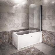 Фото 2055: Душевое стеклянное поворотное ограждение Радомир для прямоугольных ванн